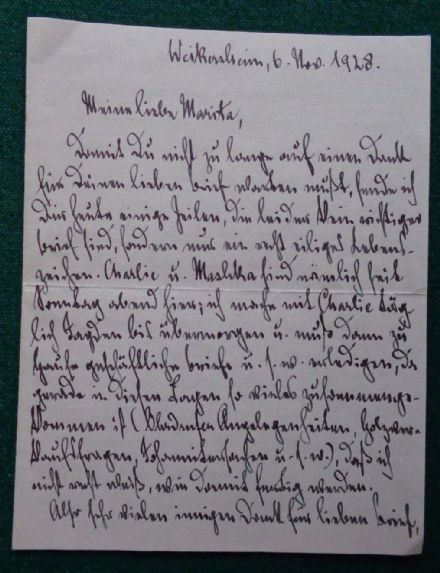 Antique Signed Letter Ernst II Prince of Hohenlohe-Langenburg 1928 to Daughter